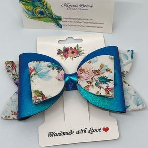 Spring floral bow